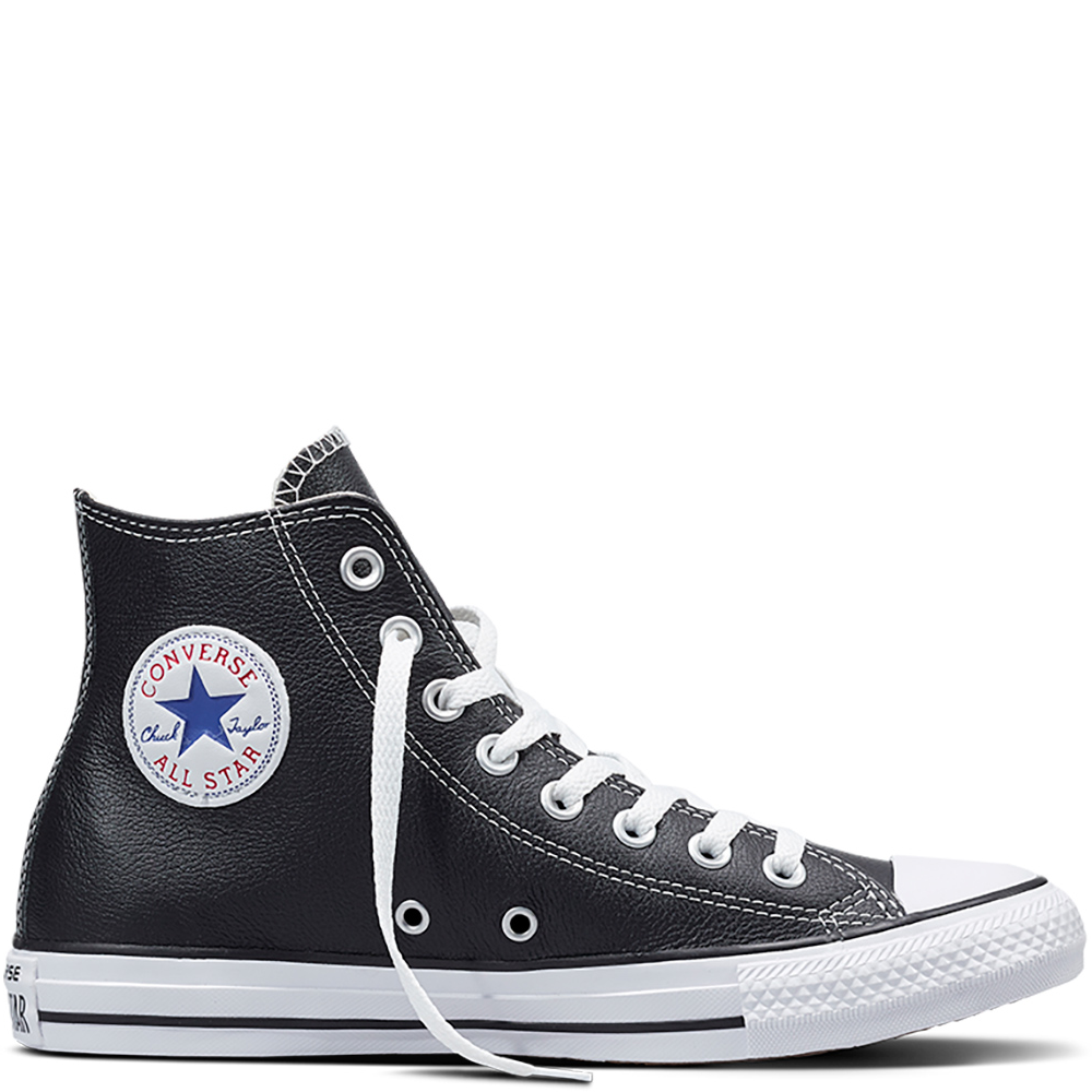 converse all star piel negras