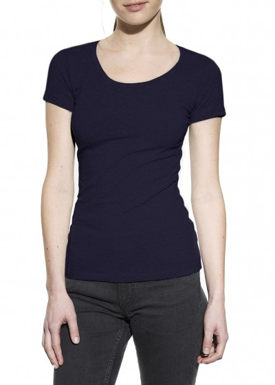 CREW-NECK DARK NAVY W