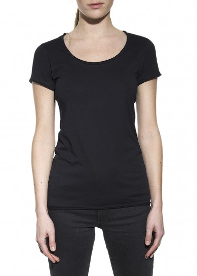 CREW-NECK RELAXED BLACK W