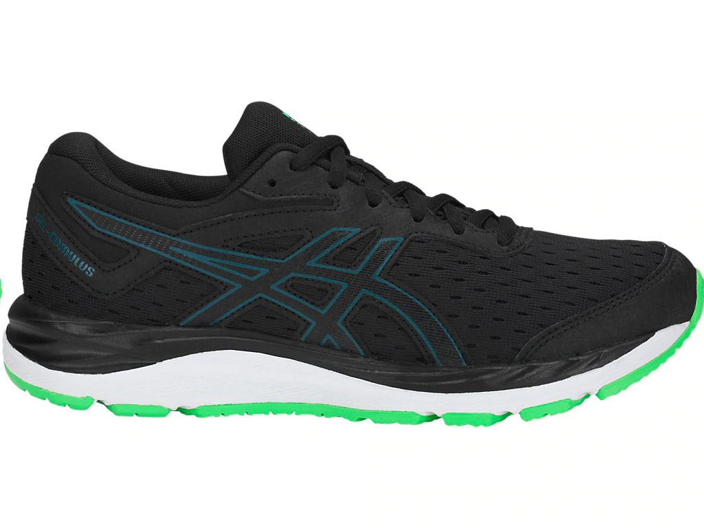 133f607eb26 Zapatillas running Asics Gel-Cumulus 20 negro verde junior - Fashionalia